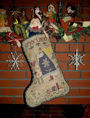 Charland's Stocking - Cross Stitch Pattern