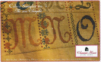 Calico Sampler 5 (M-N-O) - Cross Stitch Pattern