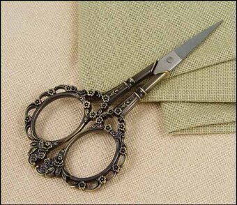 Bronze Victorian Embroidery Scissors