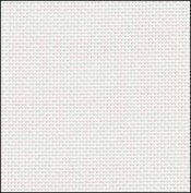 28 Count White Evenweave Fabric 17x18