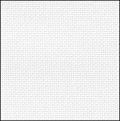 28 Count White/Silver Evenweave Fabric 35x36
