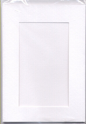 Large White Aperture Window Card - Rectangle Opening