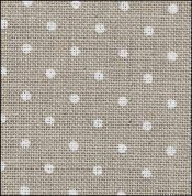 32 Count Petit Point Raw/White Belfast Linen Fabric 18x27