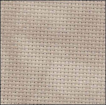 14 Count Nut Aida Fabric 18x19