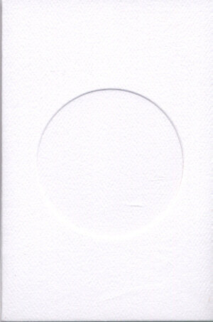 Small White Aperture Window Card - Round Opening
