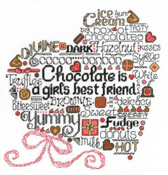 Let's Eat Chocolate - Cross Stitch Pattern