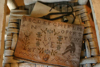 True Love Sampler Bag - Cross Stitch Pattern