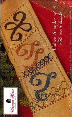 Calico Sampler #8 V W X - Cross Stitch Pattern