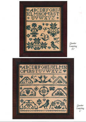 Mini Quaker Samplings - Cross Stitch Pattern