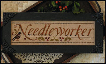 Needleworker (with threads) - Cross Stitch Pattern