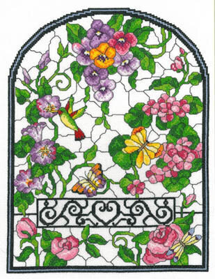 Summer Stained Glass - Cross Stitch Pattern