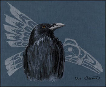Native Raven - Cross Stitch Pattern