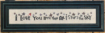 I Love You More Than All the Stars - Cross Stitch Pattern