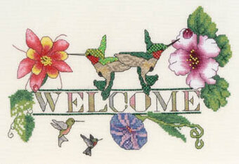 Hummingbird Welcome - Cross Stitch Pattern