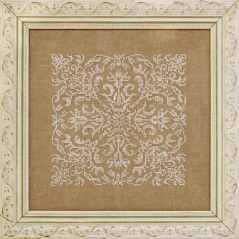 Damask Square - Cross Stitch Pattern