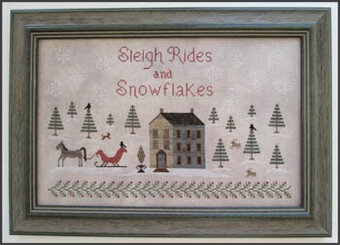 Sleigh Rides and Snowflakes - Cross Stitch Pattern