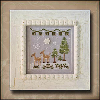 Snowy Deer - Cross Stitch Pattern