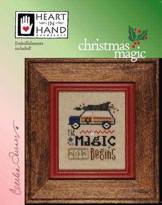 Christmas Magic (with embellishments) Cross Stitch Pattern