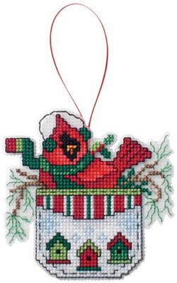 Cardinal in a Pocket - Cross Stitch Pattern