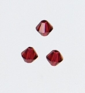 Mill Hill 13104 - Scarlet 4mm Rondelle Crystal Treasure