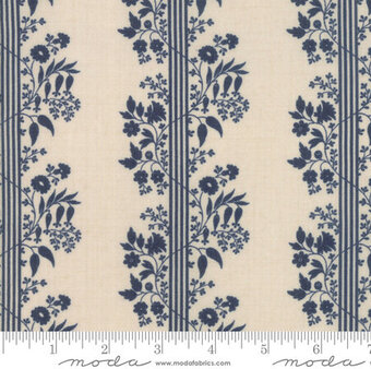 French General Vive La France Perette Dark Blue Fat Quarter