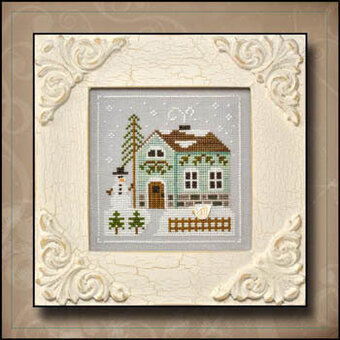 Snowman's Cottage - Cross Stitch Pattern