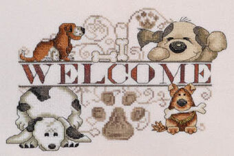Dogs Welcome - Cross Stitch Pattern