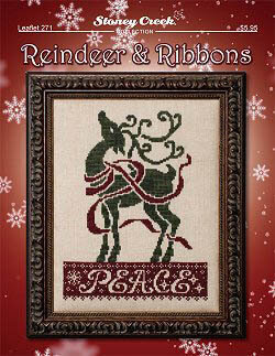 Reindeer and Ribbons - Cross Stitch Pattern