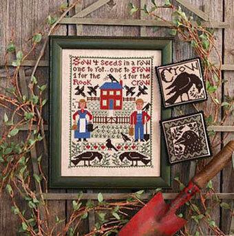 Prairie Schooler One For The Crow Cross Stitch Pattern