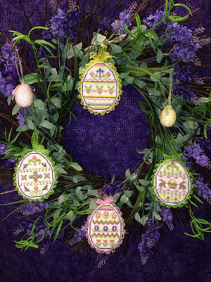 Spring Bling Easter Eggs 1 - Cross Stitch Pattern