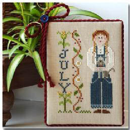 Calendar Girls - July - Cross Stitch Pattern