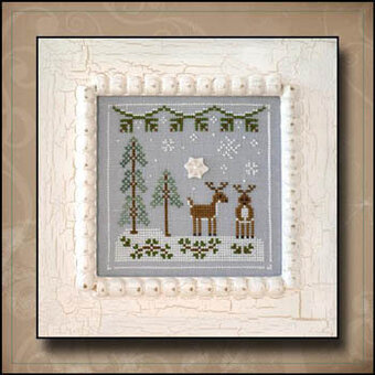 Frosty Forest #8 - Snowy Reindeer - Cross Stitch Pattern