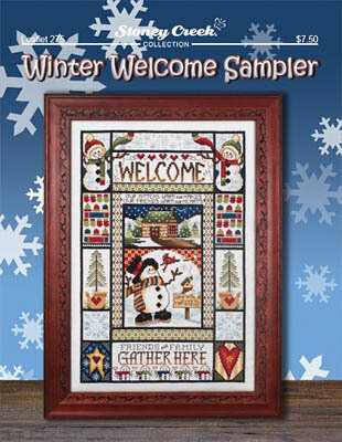 Winter Welcome  Sampler - Cross Stitch Pattern