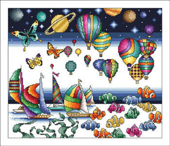 Colors Of Life - Cross Stitch Pattern
