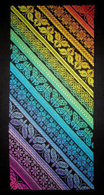 Twisted Rainbow Sampler - Cross Stitch Pattern