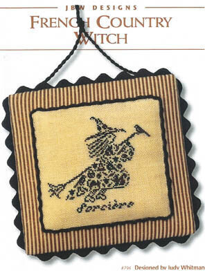 French Country Witch - Cross Stitch Pattern