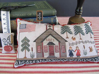 1871 School House - Cross Stitch Pattern