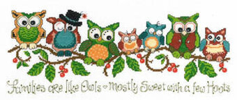 A Few Hoots - Cross Stitch Pattern