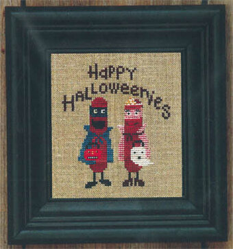 Happy Halloweenies - Cross Stitch Pattern