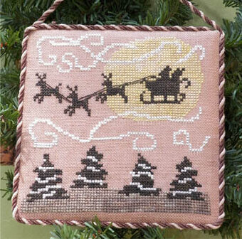 Santa's Sleigh Ride - Cross Stitch Pattern