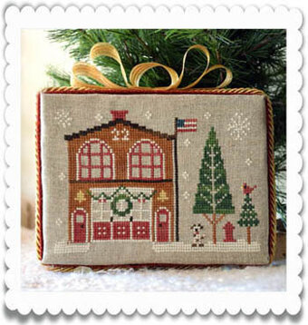 Hometown Holiday  Firehouse - Cross Stitch Pattern