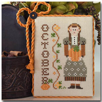 October (Calendar Girls) - Cross Stitch Pattern