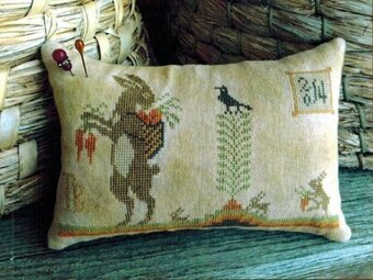Harvest Hares Pinkeep - Cross Stitch Pattern