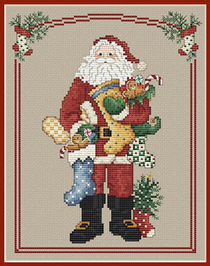 Stocking Santa - Cross Stitch pattern