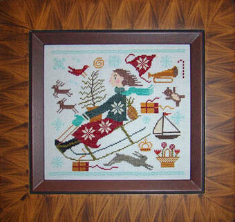 Christmas Joy Ride - Cross Stitch Pattern