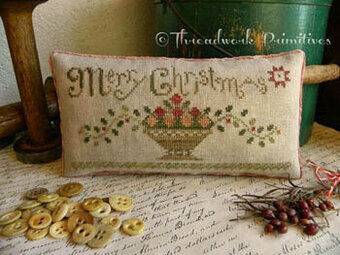 Christmas Fruit Basket  - Cross Stitch Pattern