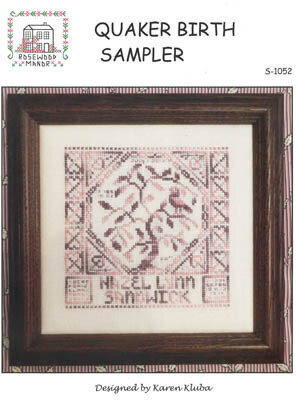 Quaker Birth Sampler - Cross Stitch Pattern