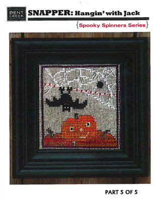 Snapper Hangin With Jack Spooky Series - Cross Stitch