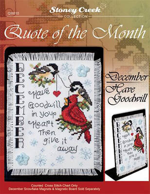 Quote of the Month December - Cross Stitch Pattern