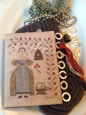 Winter Beekeeper Thread Board - Cross Stitch Pattern